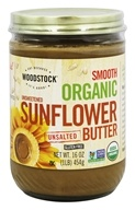 Woodstock Farms - Organic Sunflower Butter Unsweetened and Unsalted - 16 oz.