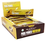 Dr. Mercola Premium Products - Pure Power Protein Bar Peanut Butter & Chocolate Chip - 12 Bars