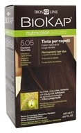 BioKap - Nutricolor Delicato Permanent Hair Dye 5.05 Chestnut Light Brown - 4.67 oz.