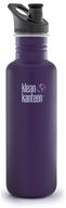 Klean Kanteen - Stainless Steel Water Bottle Classic with Sport Cap 3.0 Berry Syrup - 27 oz.