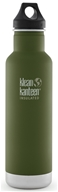 Klean Kanteen - Stainless Steel Water Bottle Classic with Stainless Loop Cap Fresh Pine - 20 oz.