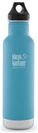 Klean Kanteen - Stainless Steel Water Bottle Classic with Stainless Loop Cap Quiet Storm - 20 oz.