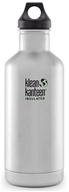 Klean Kanteen - Stainless Steel Water Bottle Classic with Stainless Loop Cap Brushed Stainless ...