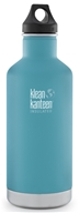 Klean Kanteen - Stainless Steel Water Bottle Classic with Stainless Loop Cap Quiet Storm - 32 oz.