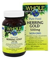 Whole Earth & Sea - Pure Food Herring Gold 500 mg. - 60 Softgels