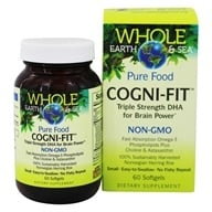 Whole Earth & Sea - Pure Food Cogni-Fit - 60 Softgels