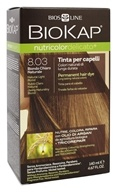 BioKap - Nutricolor Delicato Permanent Hair Dye 8.03 Natural Light Blond - 4.67 oz.