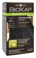 BioKap - Nutricolor Delicato Permanent Hair Dye 1.0 Natural Black - 4.67 oz.