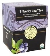 Buddha Teas - 100% Organic Herbal Bilberry Leaf Tea - 18 Tea Bags