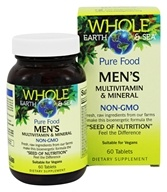 Pure Food Men's Multivitamin & Mineral - 60 Tablets by Whole Earth & Sea