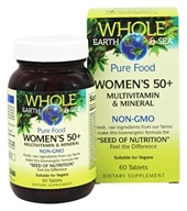 Whole Earth & Sea - Pure Food Women's 50+ Multivitamin & Mineral - 60 Tablets