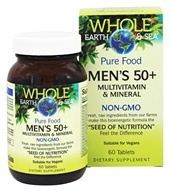 Pure Food Men's 50+ Multivitamin & Mineral - 60 Tablets by Whole Earth & Sea