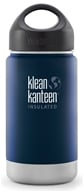 Klean Kanteen - Stainless Steel Water Bottle Wide Insulated with Stainless Loop Cap Deep Sea ...