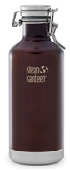 Klean Kanteen - Stainless Steel Water Bottle Classic with Stainless Swing Lock Cap Dark Amber - 32 oz.