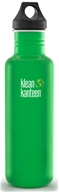 Klean Kanteen - Stainless Steel Water Bottle Classic with Loop Cap Organic Garden - 27 oz.