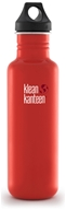 Klean Kanteen - Stainless Steel Water Bottle Classic with Loop Cap Flame Orange - 27 oz.