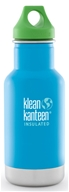 Klean Kanteen - Stainless Steel Kid Kanteen Water Bottle with Green Loop Cap Little Pond - 12 oz.
