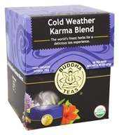 Buddha Teas - 100% Organic Herbal Tea Cold Weather Karma Blend - 18 Tea Bags ...