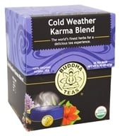 Buddha Teas - 100% Organic Herbal Tea Cold Weather Karma Blend - 18 Tea Bags