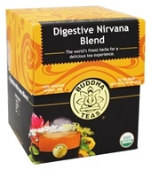 Buddha Teas - 100% Organic Herbal Tea Digestive Nirvana Blend - 18 Tea Bags