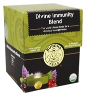 Buddha Teas - 100% Organic Herbal Tea Divine Immunity Blend - 18 Tea Bags