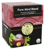 Buddha Teas - 100% Organic Herbal Tea Pure Mind Blend - 18 Tea Bags