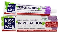 Kiss My Face - Triple Action Toothpaste with Anticavity Fluoride Fresh Mint - 4.1 oz.