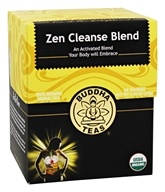 Buddha Teas - 100% Organic Herbal Tea Zen Cleanse Blend - 18 Tea Bags