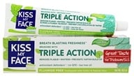 Kiss My Face - Triple Action Toothpaste Gel Fluoride Free Cool Mint - 4.5 oz.