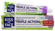 Kiss My Face - Triple Action Toothpaste Fluoride Free Fresh Mint - 4.1 oz.