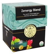 Buddha Teas - 100% Organic Herbal Tea Zenergy Blend - 18 Tea Bags