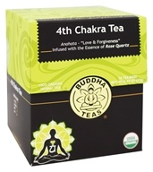 Buddha Teas - 100% Organic Herbal 4th Chakra Tea - 18 Tea Bags