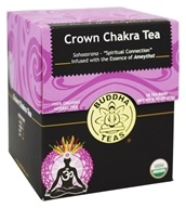 Buddha Teas - 100% Organic Herbal Crown Chakra Tea - 18 Tea Bags