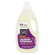 Better Life - Naturally Dirt-Demolishing Laundry Detergent 64 Loads Lavender Grapefruit - 64 oz. Formerly Spin Credible