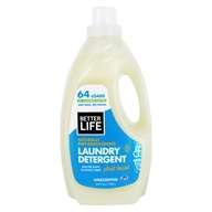 Better Life - Naturally Dirt-Demolishing Laundry Detergent 64 Loads Unscented - 64 oz. Formerly Spin Credible