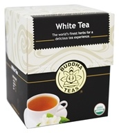 Buddha Teas - 100% Organic Herbal White Tea - 18 Tea Bags