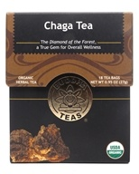 Buddha Teas - Wild Crafted Herbal Chaga Mushroom Tea - 18 Tea Bags