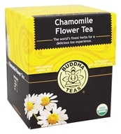 Buddha Teas - 100% Organic Herbal Chamomile Flower Tea - 18 Tea Bags