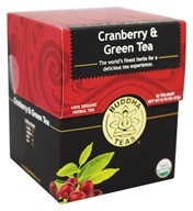 Buddha Teas - 100% Organic Herbal Cranberry & Green Tea - 18 ...