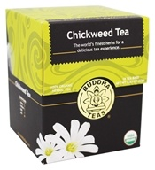 Buddha Teas - 100% Organic Herbal Chickweed Tea - 18 Tea Bags