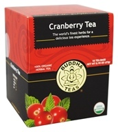 Buddha Teas - 100% Organic Herbal Cranberry Tea - 18 Tea Bags