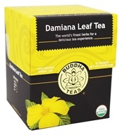 Buddha Teas - 100% Organic Herbal Damiana Leaf Tea - 18 Tea Bags