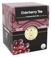 Buddha Teas - 100% Organic Herbal Elderberry Tea - 18 Tea Bags