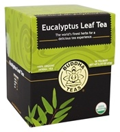 Buddha Teas - 100% Organic Herbal Eucalyptus Leaf Tea - 18 Tea Bags