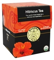 Buddha Teas - 100% Organic Herbal Hibiscus Tea - 18 Tea Bags