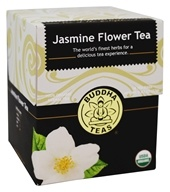 Buddha Teas - 100% Organic Herbal Jasmine Flower Tea - 18 Tea Bags