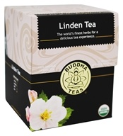 Buddha Teas - 100% Organic Herbal Linden Tea - 18 Tea Bags