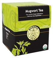 Buddha Teas - 100% Organic Herbal Mugwort Tea - 18 Tea Bags