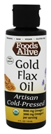 Foods Alive - Organic Gold Flax Oil - 4 oz.