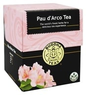 Buddha Teas - Wild Crafted Herbal Pau d'Arco Tea - 18 Tea Bags